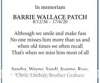 BARRIE WALLACE PATCH