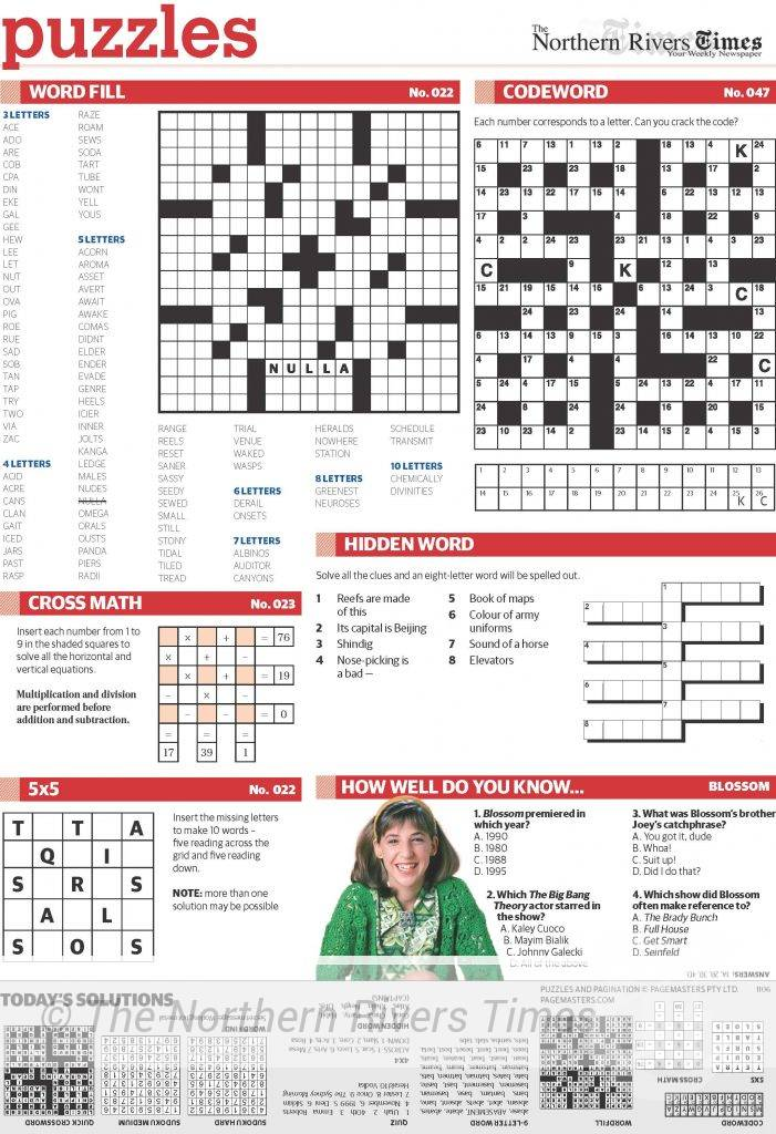 The Northern Rivers Times Edition 49 Puzzle 2