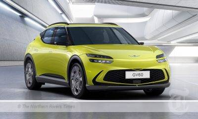 Genesis GV60 is a stylish high-riding coupe.