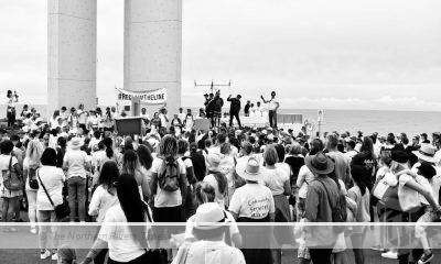The protest shifted to Captain Cook Memorial at Point Danger